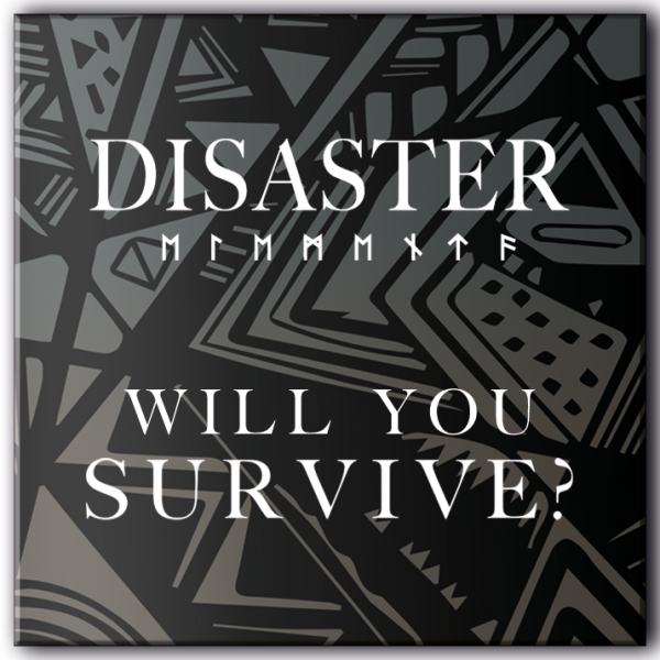 Disaster - will you survive - Aufkleber